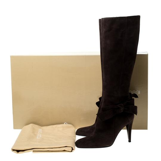 Sergio Rossi Suede Brown Boots Image 7