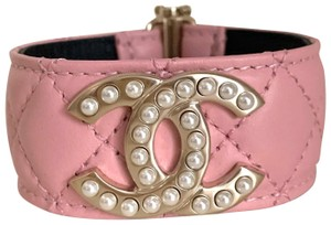 Chanel quilted pearl cuff