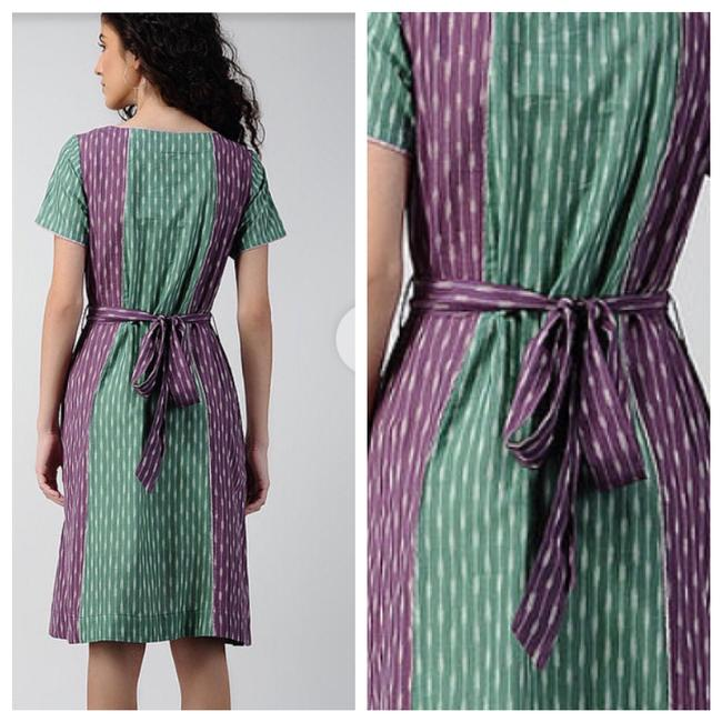 Anthropologie short dress green purple on Tradesy Image 1