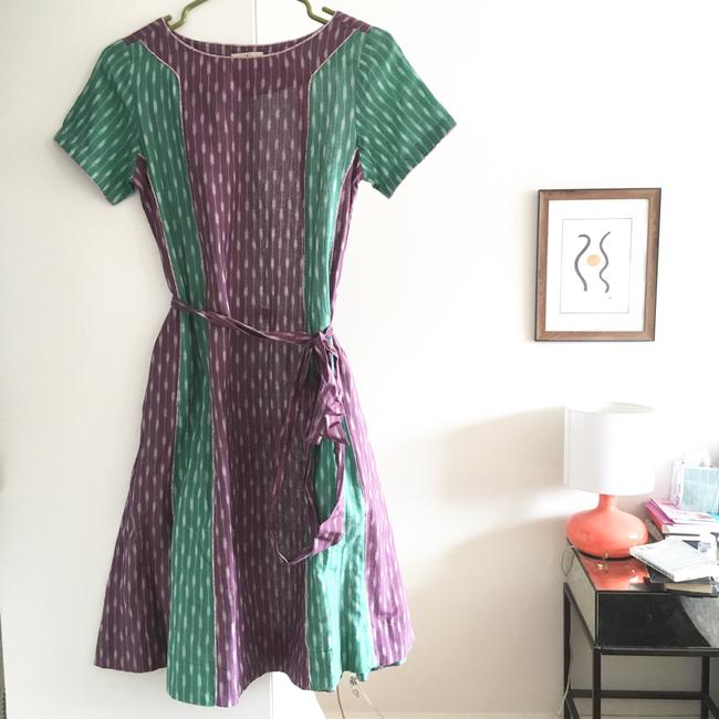 Anthropologie short dress green purple on Tradesy Image 2