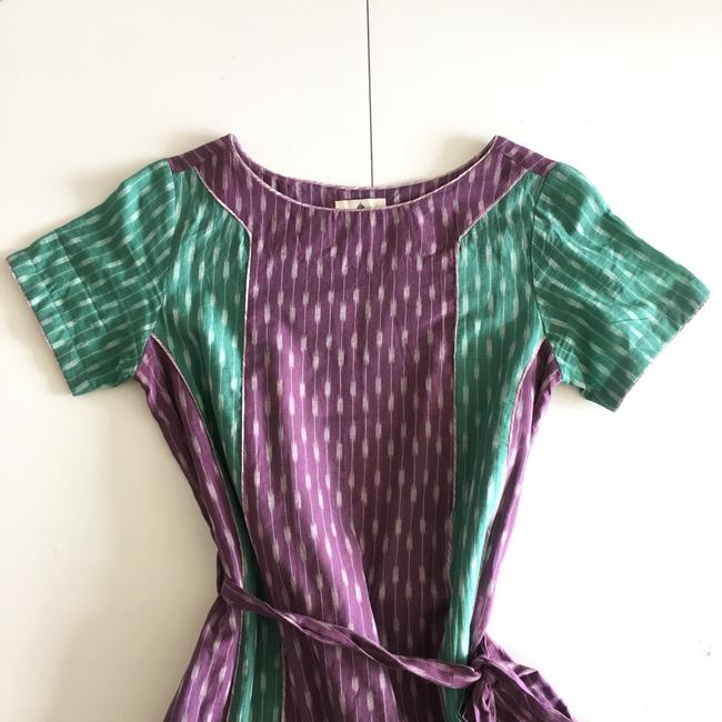Anthropologie short dress green purple on Tradesy Image 3