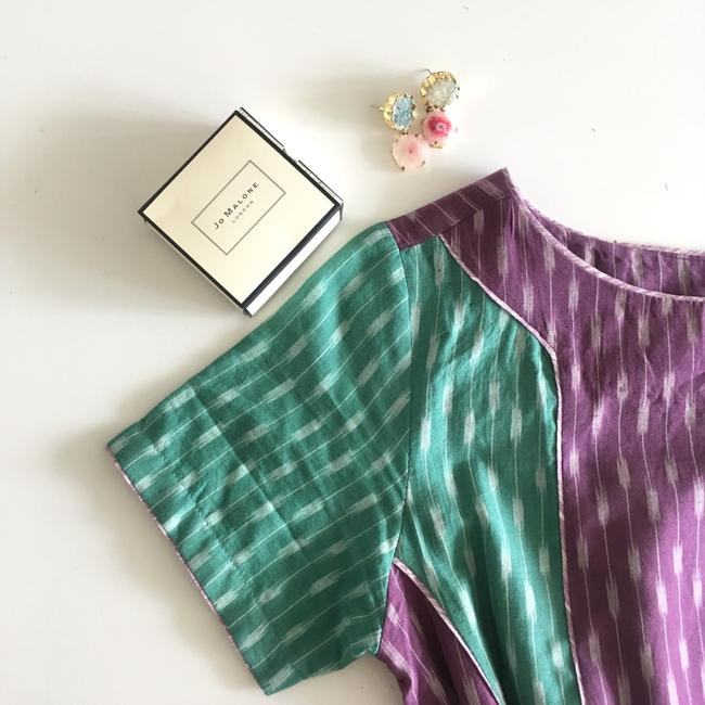 Anthropologie short dress green purple on Tradesy Image 4