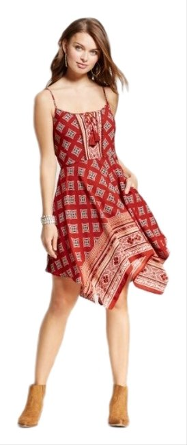 Preload https://img-static.tradesy.com/item/26167466/xhilaration-red-hanky-hem-strappy-mid-length-short-casual-dress-size-4-s-0-1-650-650.jpg