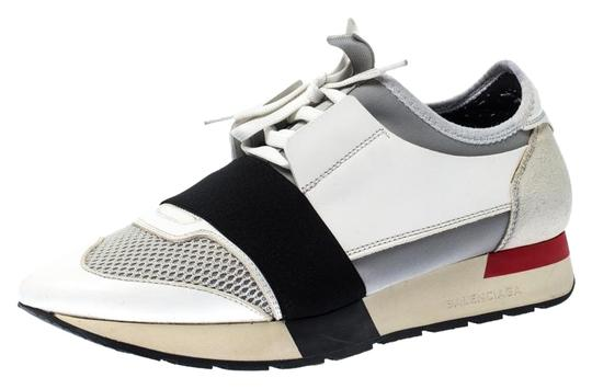 Preload https://img-static.tradesy.com/item/26167473/balenciaga-white-suede-leather-and-stretch-fabric-race-runners-lace-up-sneakers-flats-size-eu-39-app-0-3-540-540.jpg