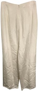 Flores & Flores Silk Monochrome Luxury Wide Leg Pants Ivory