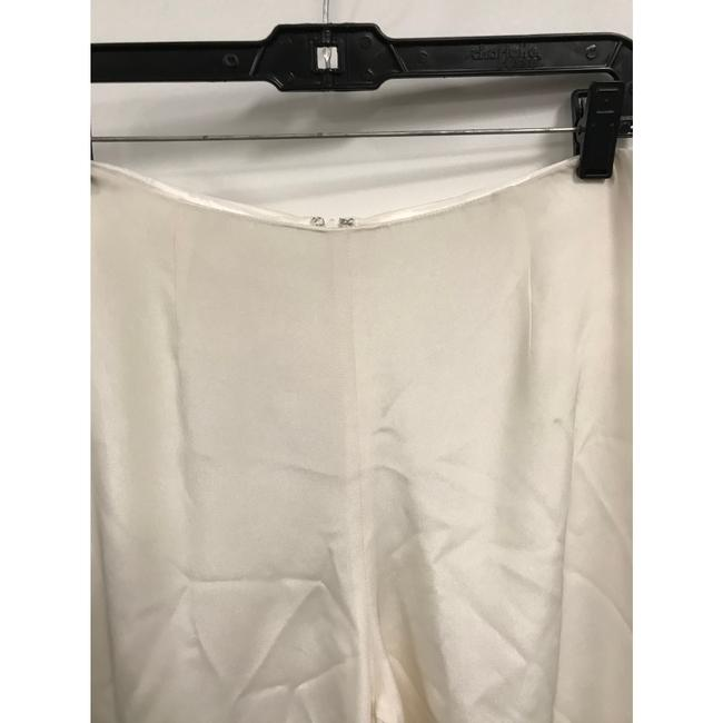 Flores & Flores Silk Monochrome Luxury Wide Leg Pants Ivory Image 3