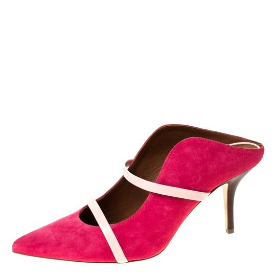 Malone Souliers Suede Leather Pointed Toe Pink Sandals Image 1
