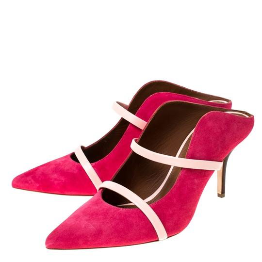 Malone Souliers Suede Leather Pointed Toe Pink Sandals Image 4