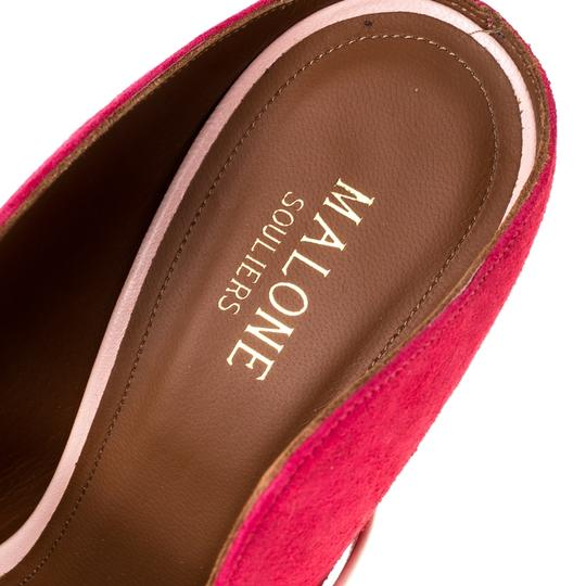 Malone Souliers Suede Leather Pointed Toe Pink Sandals Image 5