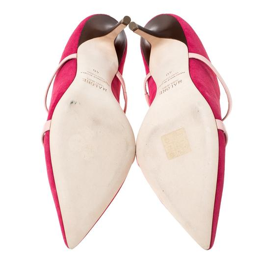 Malone Souliers Suede Leather Pointed Toe Pink Sandals Image 6