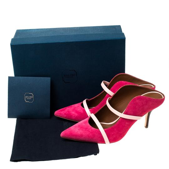 Malone Souliers Suede Leather Pointed Toe Pink Sandals Image 7