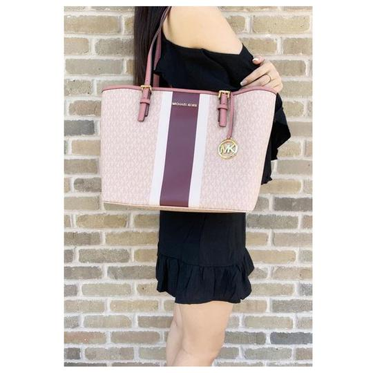 Michael Kors Womens Ballet Leather Tote in Pink Image 1