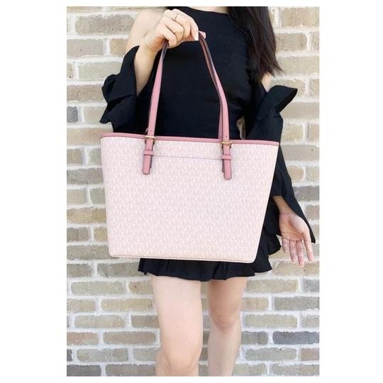 Michael Kors Womens Ballet Leather Tote in Pink Image 3