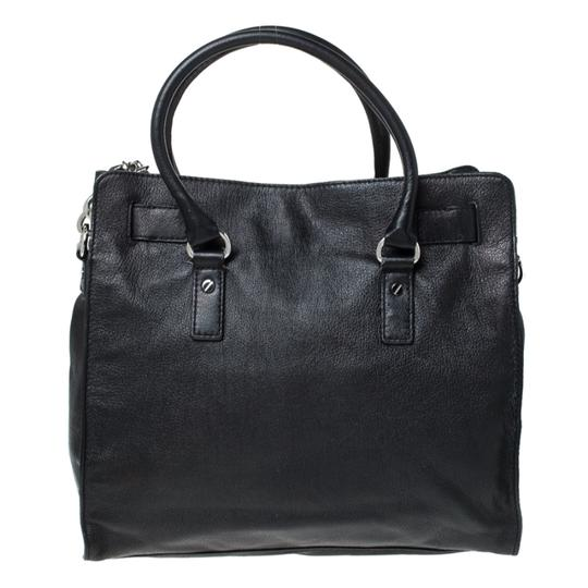 MICHAEL Michael Kors Leather Fabric Tote in Black Image 1