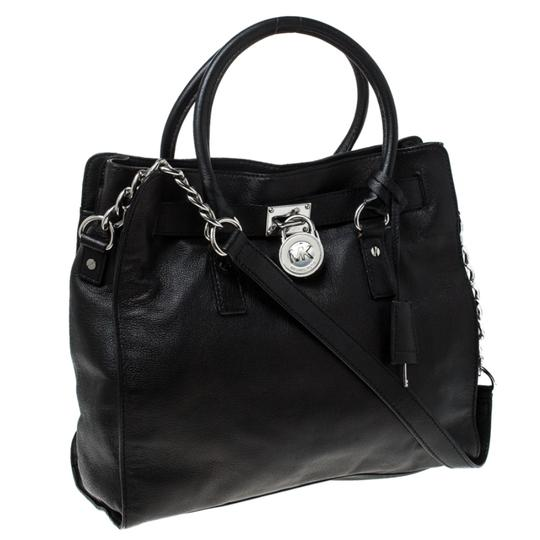 MICHAEL Michael Kors Leather Fabric Tote in Black Image 10