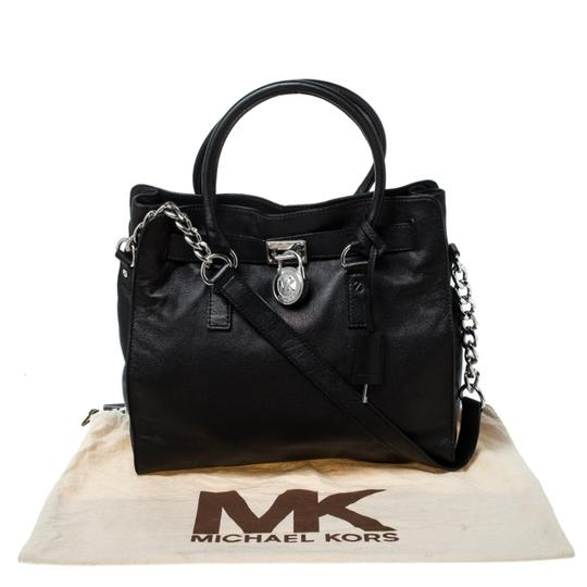 MICHAEL Michael Kors Leather Fabric Tote in Black Image 11