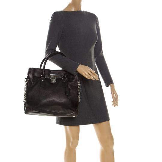 MICHAEL Michael Kors Leather Fabric Tote in Black Image 2
