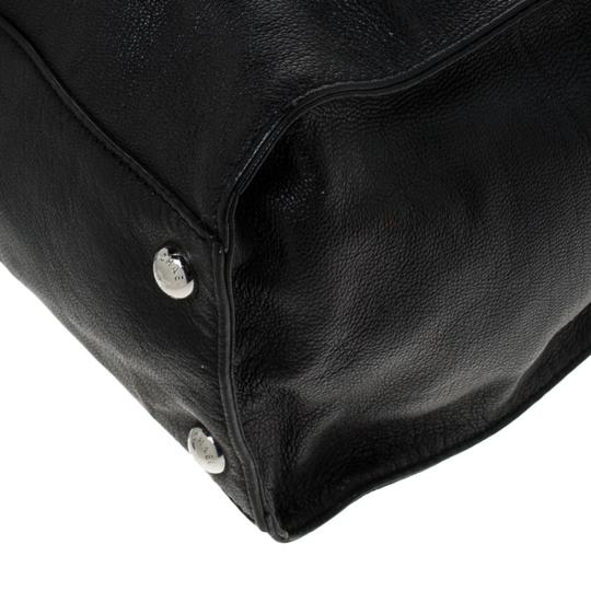MICHAEL Michael Kors Leather Fabric Tote in Black Image 3