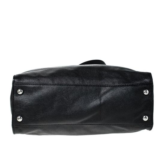 MICHAEL Michael Kors Leather Fabric Tote in Black Image 4