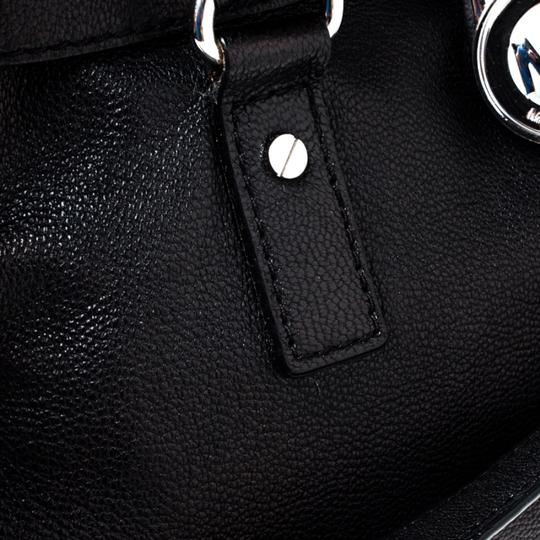 MICHAEL Michael Kors Leather Fabric Tote in Black Image 7