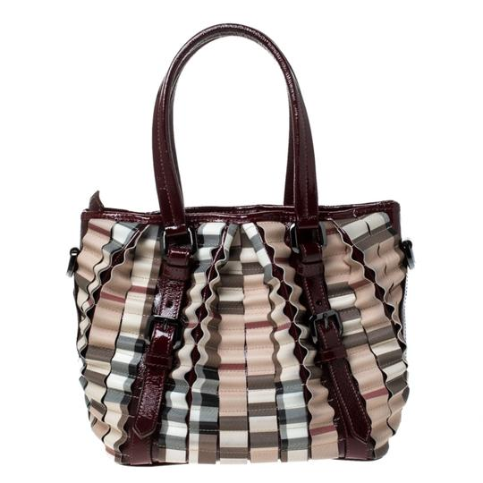 Burberry Canvas Pvc Patent Leather Tote in Beige Image 1