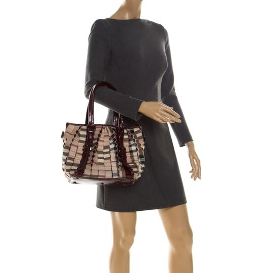 Burberry Canvas Pvc Patent Leather Tote in Beige Image 2