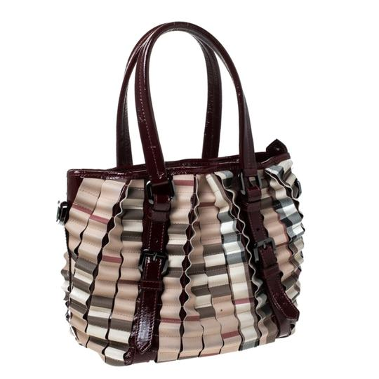Burberry Canvas Pvc Patent Leather Tote in Beige Image 6
