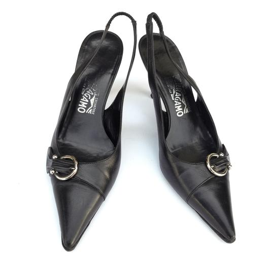 Preload https://img-static.tradesy.com/item/26167577/salvatore-ferragamo-black-leather-pointed-toe-slingback-pumps-size-us-85-regular-m-b-0-0-540-540.jpg