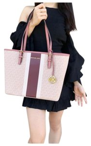 Michael Kors Womens Ballet Leather Tote in Pink
