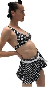 Norma Kamali Polka Dot Dress Shorts Black and white