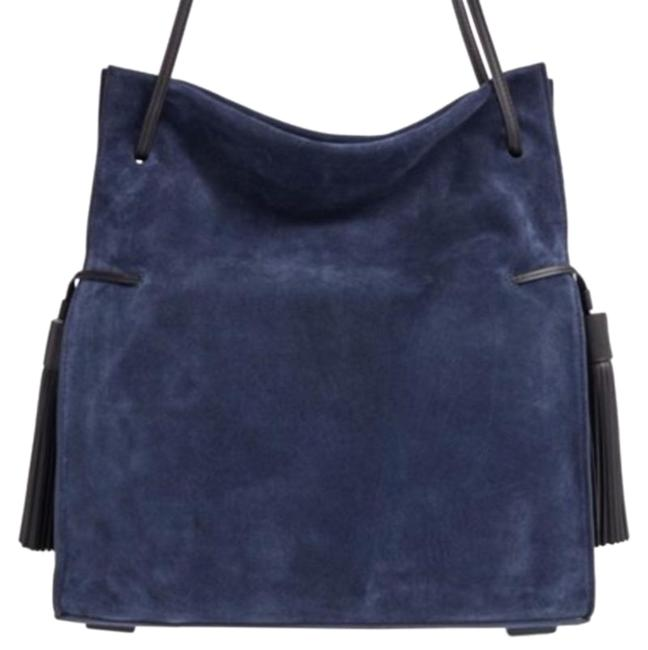 Item - Freedom In Blue Suede Leather Hobo Bag