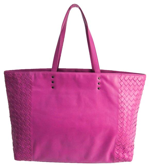 Item - Bag Intrecciato Women's Light Purple Leather Tote