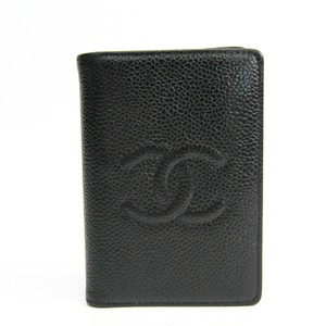 Chanel Chanel A13503 Caviar Leather Business Card Case Black