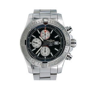 Breitling Breitling Super Avenger II A13371 48MM Black Dial With Stainless Steel