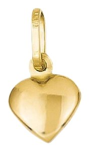 Apples of Gold ITALIAN SMALL PUFFY HEART CHARM, 14K GOLD