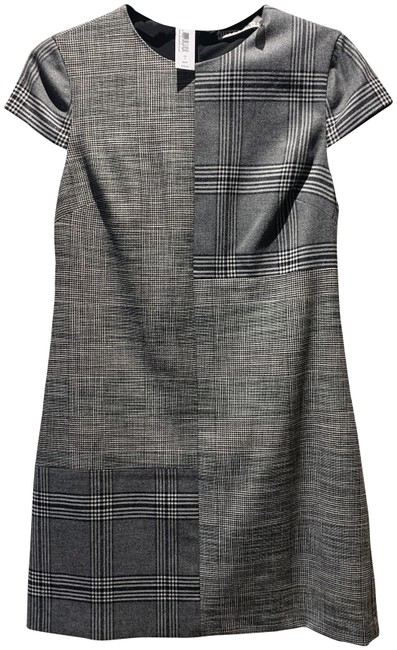 Item - Black Grey and White Plaid Cc807 Short Casual Dress Size 2 (XS)