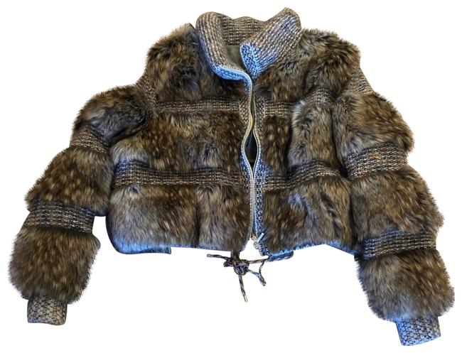 Item - Brown Fall 2018 Runway Faux Fur Cashmere Jacket Size 6 (S)