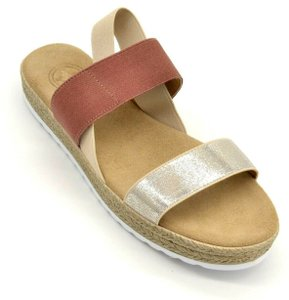 Charleston Shoe Co. Sling Back Ojai Rosewood taupe Sandals