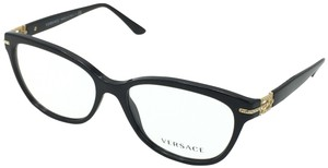Versace Versace 3205-B GB1 Cat Eye Black Gold Eyeglasses 54mm