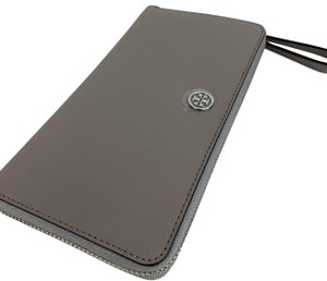 Tory Burch Tory Burch Parker Continental Gray Leather Wallet 36799
