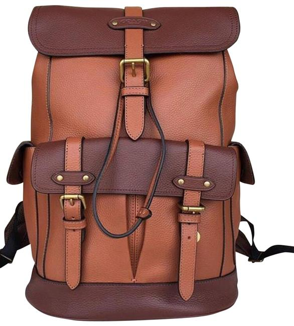 Item - Saddle New Two Tone Buckle Travel Rucksack Brown Leather Backpack