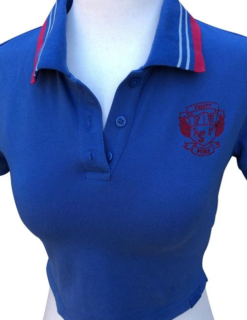 Item - Blue Cropped Polo Tee Shirt Size 0 (XS)