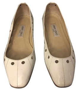 Jimmy Choo Ballet Ballet Patent Leather white Flats
