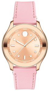 Movado Bold Silicone Rose Gold Steel 3600426 Watch