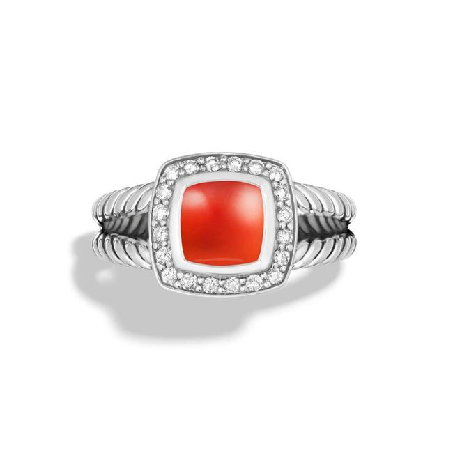 Item - Petite Albion with Carnelian and Diamonds Ring