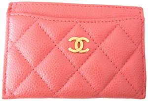 Chanel Caviar Leather Business Credit Cards Holder Wallet