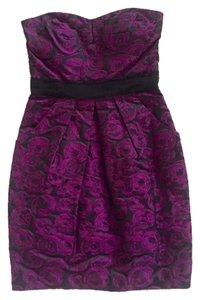 Max and Cleo Strapless Patterned Dress