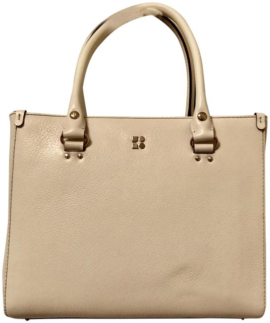 Item - Wellesley Quinn Tote Winter White Leather Satchel