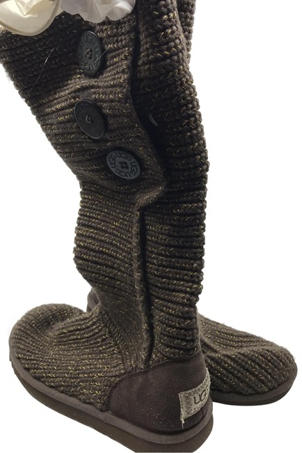 Item - Green/Brown Knitted Boots/Booties Size US 8 Regular (M, B)