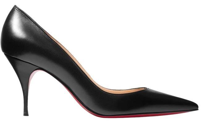 Christian Louboutin Black Clare 80 Leather Heels Pumps Size EU 38 (Approx. US 8) Regular (M, B) Christian Louboutin Black Clare 80 Leather Heels Pumps Size EU 38 (Approx. US 8) Regular (M, B) Image 1